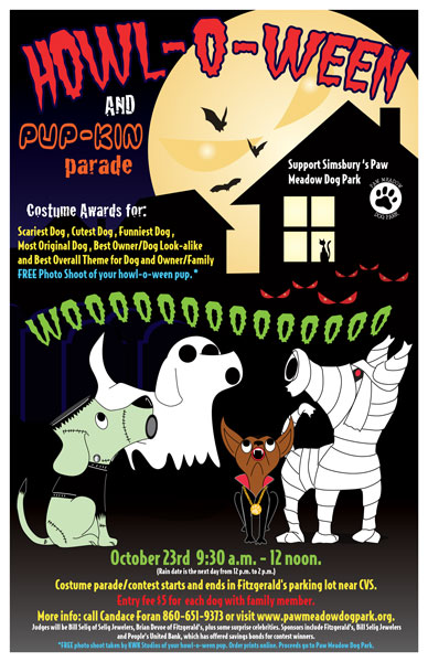 Halloween poster for a pet event