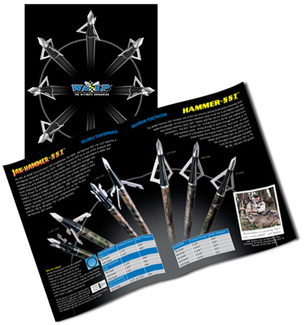 8 page catalog design for WASP archery